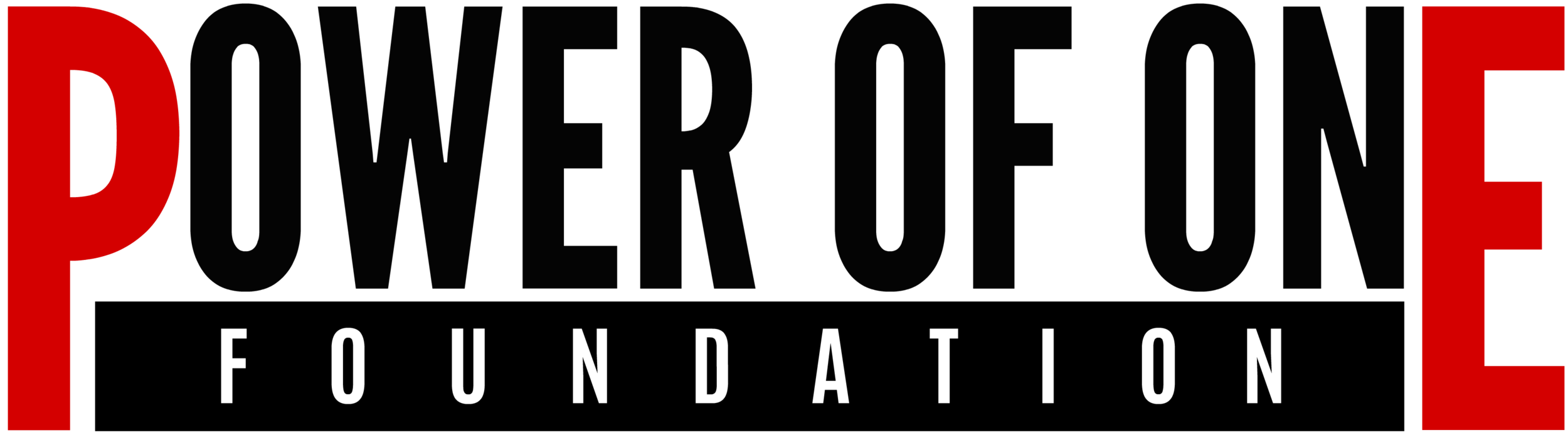 Power of One Foundation Logo NEGRO